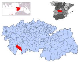 Resultado de imagen de Valle de Robledo del Mazo mapa