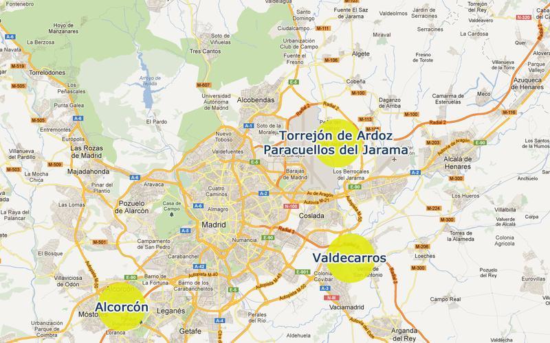 28921 c digo postal de alcorc n for Mapa de codigos postales de madrid capital