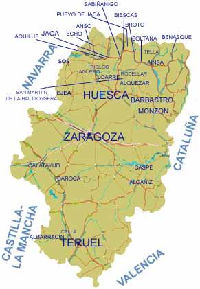 22145 c digo postal de alqu zar for Oficina de turismo huesca