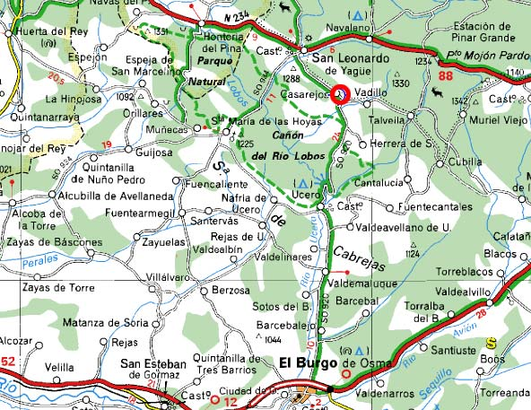 Aranda Del Duero Mapa.09400 Codigo Postal De Aranda De Duero