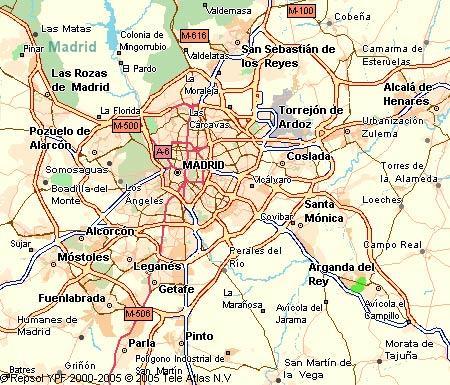 Mapa Codigos Postales Madrid.28500 Codigo Postal De Arganda Del Rey