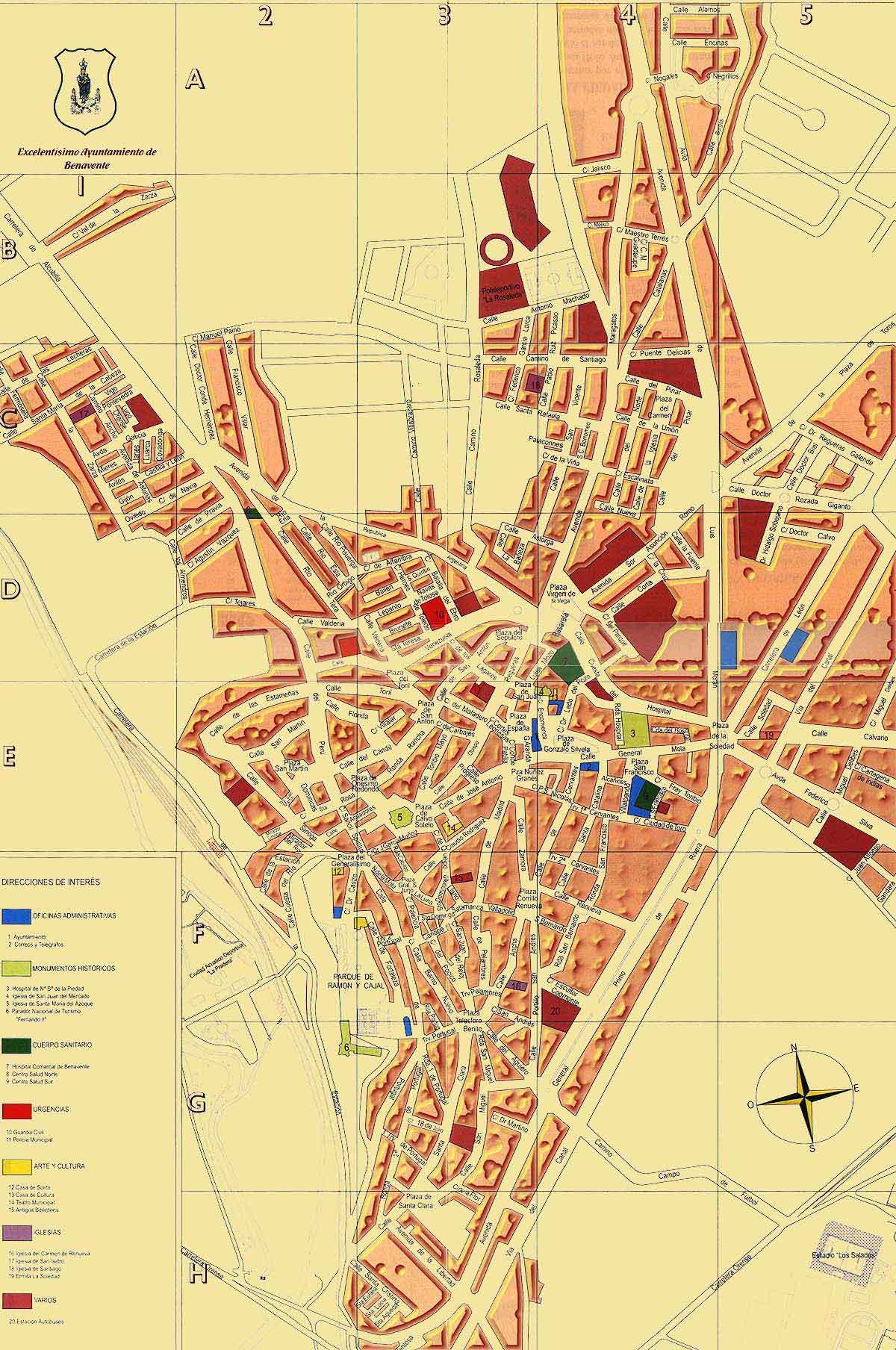 benavente mapa 49600 código postal de Benavente benavente mapa