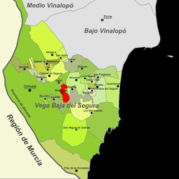 Imagen de Benejúzar mapa 03390 2