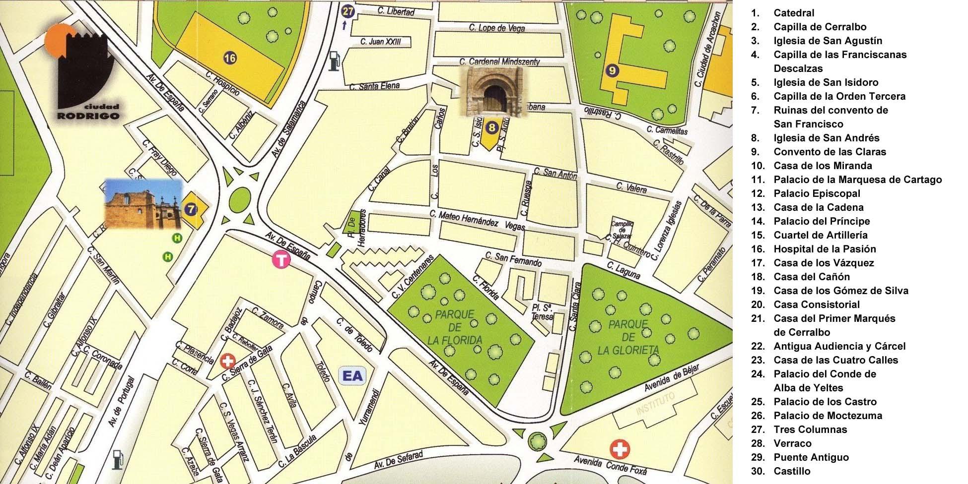 Mapa ciudad rodrigo my blog for Codigo postal del barrio de salamanca en madrid
