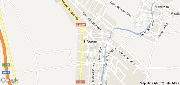 Imagen de El Verger mapa 03770 4
