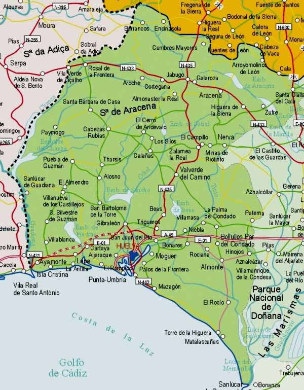 huelva espanha mapa 21004 código postal de Huelva huelva espanha mapa