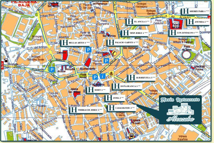 Mapa de jerez pictures to pin on pinterest pinsdaddy for Azulejos jerez de la frontera