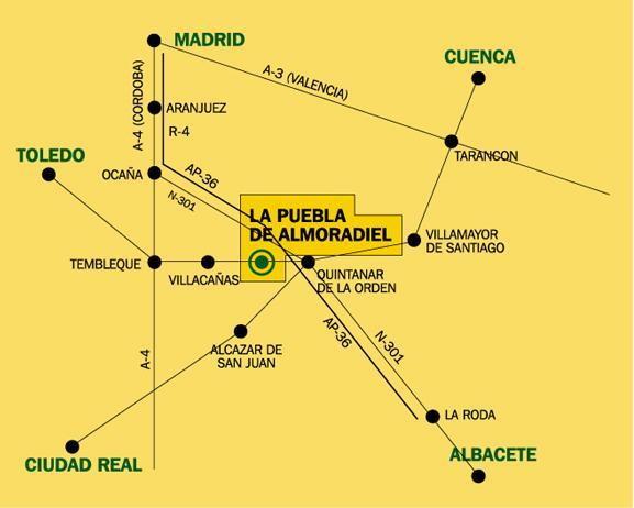 Imagen de La Puebla de Almoradiel mapa 45840 2