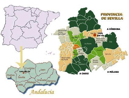 Lora Del Rio Sevilla Imagen de Lora Del Río Mapa