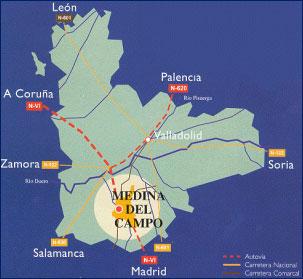 Medina Del Campo Mapa.Medina Del Campo Mapa Mapa