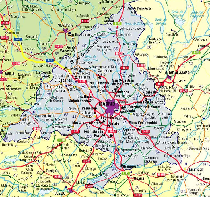 Mapa Codigos Postales Madrid.28840 Codigo Postal De Mejorada Del Campo