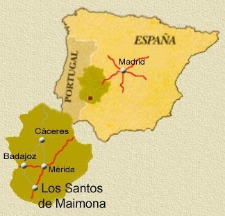 Resultado de imagen de merida mapa españa