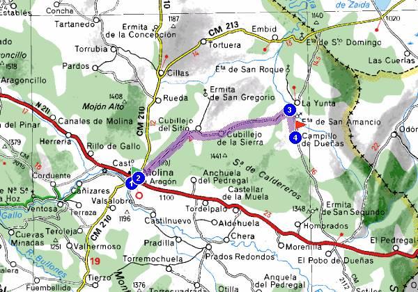 Molina De Aragon Mapa.19300 Codigo Postal De Molina De Aragon