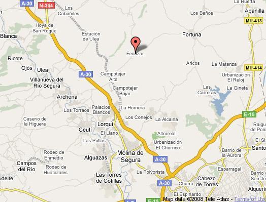 Mapa Molina De Segura.30500 Codigo Postal De Molina De Segura
