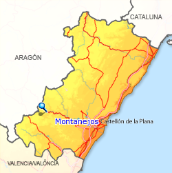 Resultado de imagen de Balneario Montanejos mapa