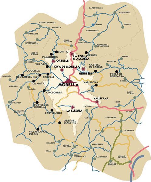 Imagen de Morella mapa 12300 2