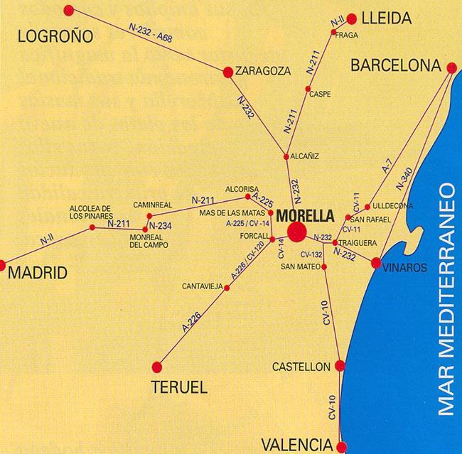 Imagen de Morella mapa 12300 6