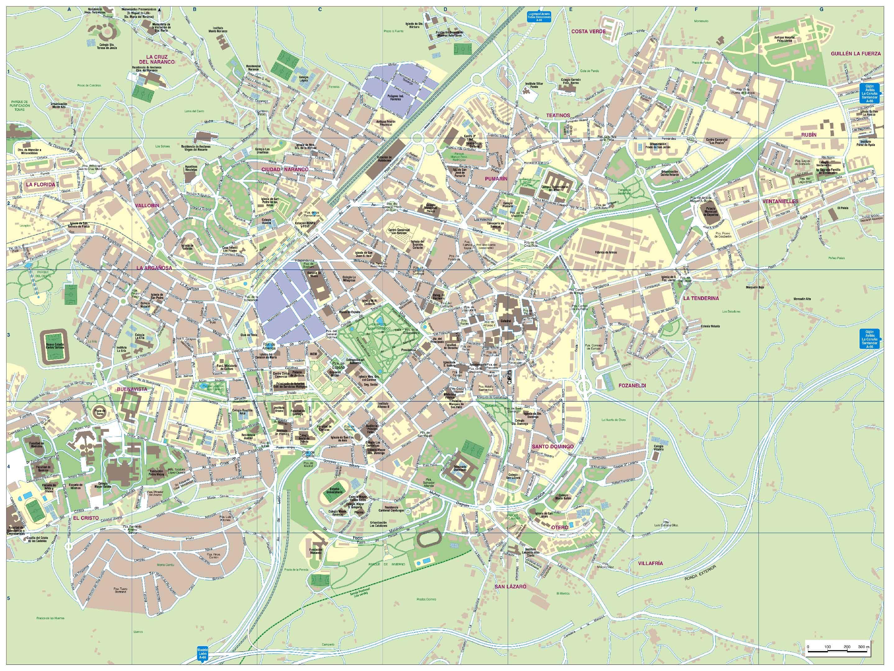 Imagen de Oviedo mapa 33001 2