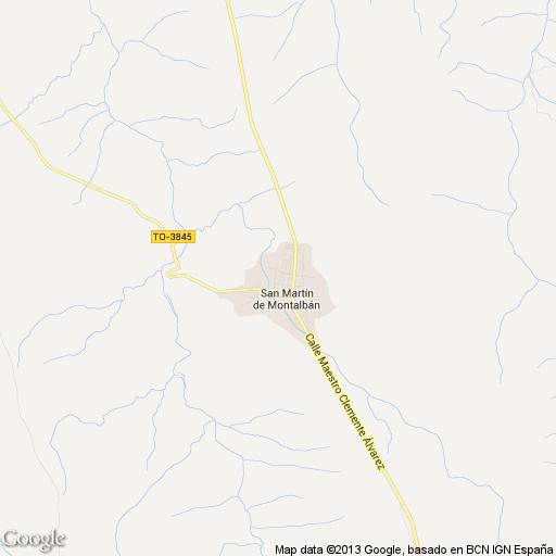 Imagen de San Martín de Montalbán mapa 45165 3
