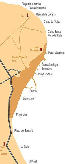 Mapa De Santa Pola.03130 Codigo Postal De Santa Pola