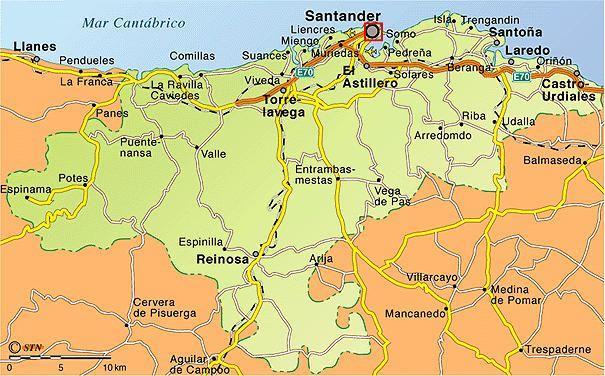 Santander mapa for Mapa santander sucursales
