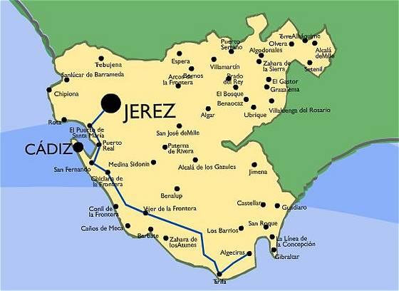 Mapa De Tarifa Cadiz.11380 Codigo Postal De Tarifa