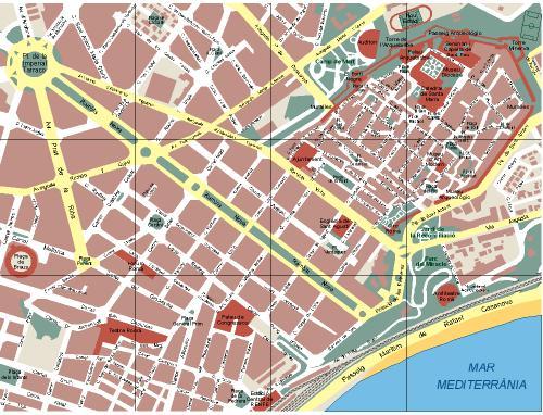Mapa tarragona ciudad my blog for Codigo postal del barrio de salamanca en madrid
