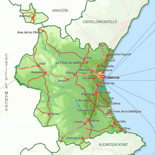 46760 c digo postal de tavernes de la valldigna - Casas en tavernes de la valldigna ...