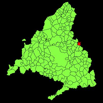 Mapa Comunidad De Madrid Por Codigos Postales.28816 Codigo Postal De Valdeavero