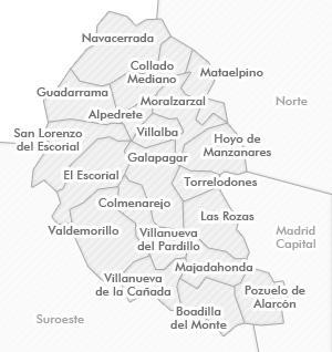 28210 c digo postal de valdemorillo for Mapa de codigos postales de madrid capital