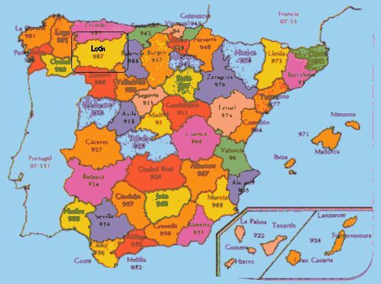 24230 c digo postal de valdevimbre for Mapa de codigos postales de madrid capital